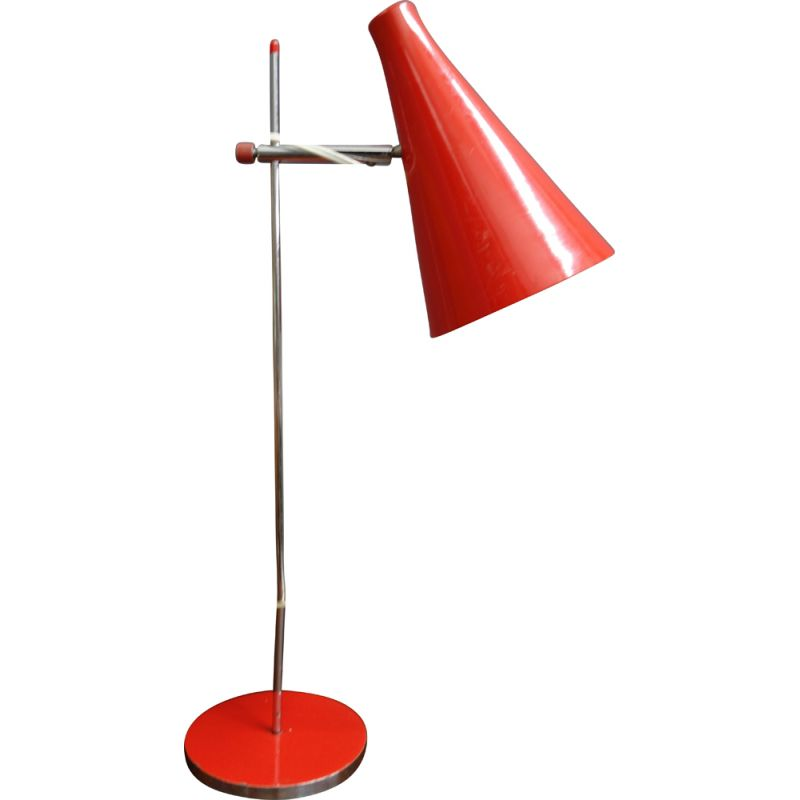 Vintage Red table lamp by Lidokov 1960s