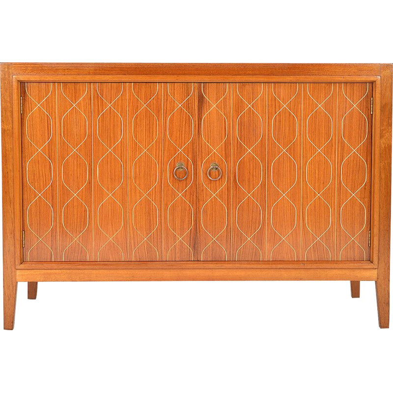 Vintage Gordon Russell Sideboard Double Helix Mahogany Birch English 1950s