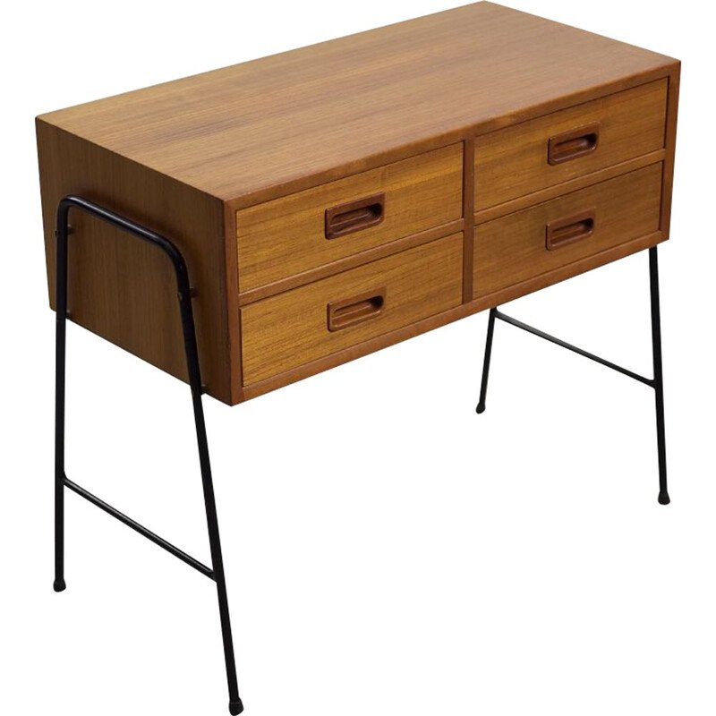 Vintage teak console with drawers, Scandinavia 1960