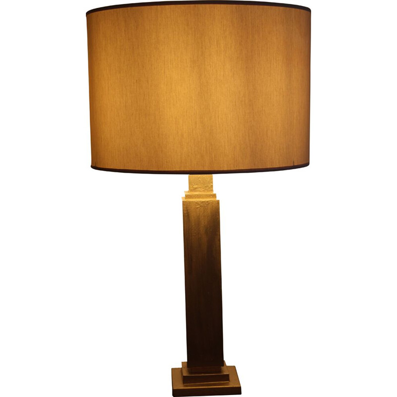 Vintage table lamp with hand-brushed Florentine gold, Italy 1970