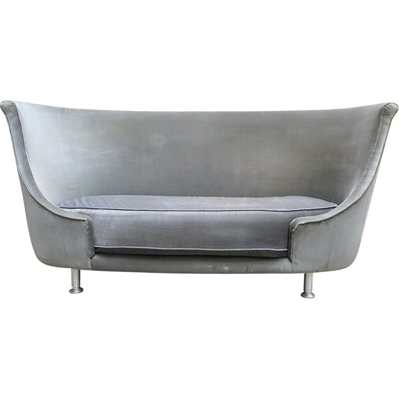 Vintage Italian grey sofa by Moroso 2000