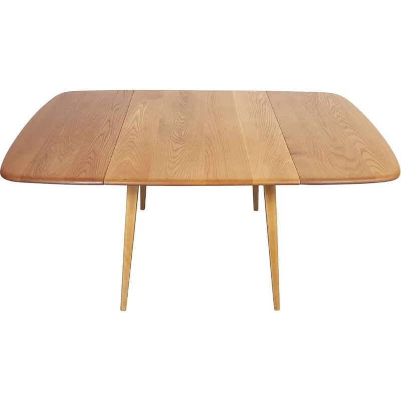 Vintage Ercol Square Drop Leaf Dining Table 1960s
