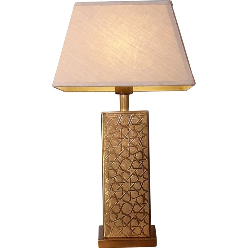 Vintage table lamp in Brass, Norway 1970