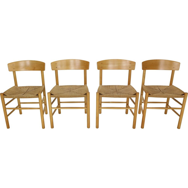 Set of 4 vintage dining room chairs Børge Mogensen Scandinavian  1947