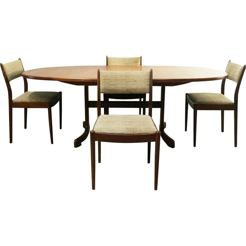 Vintage G Plan Fresco dining table and chairs 1970s