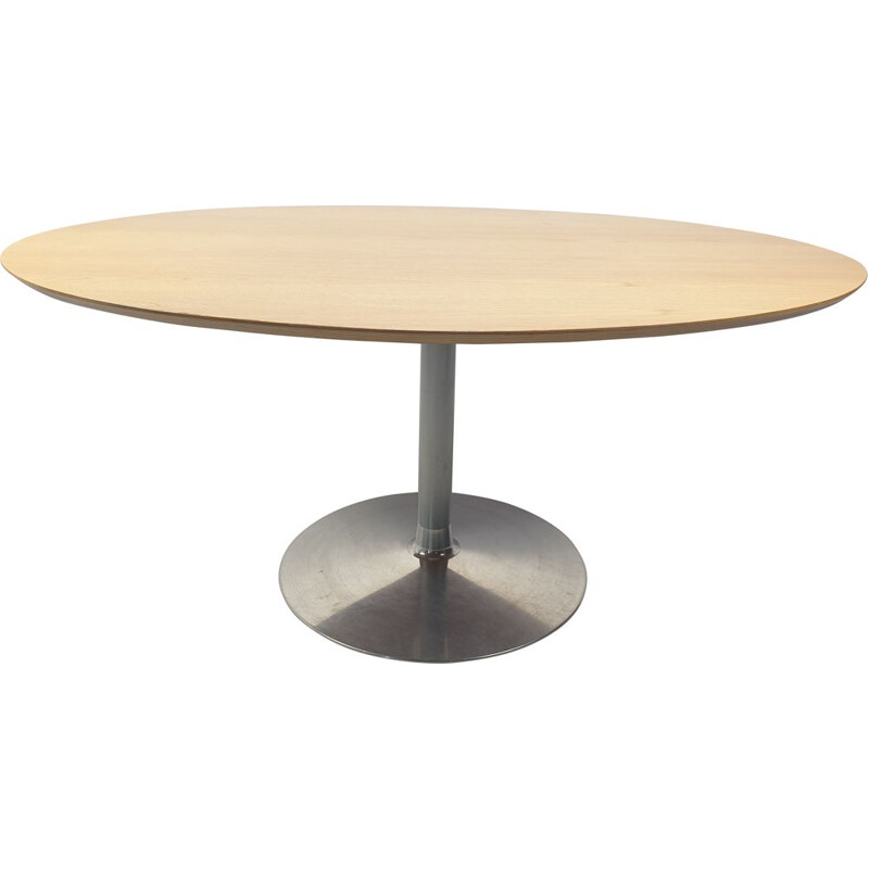 Vintage Oval Circle Dining Table by Pierre Paulin for Artifort 1960s