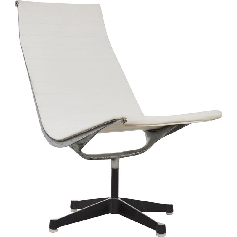 Vintage White Office Armchair by Charles & Ray Eames for Herman Miller 1970s