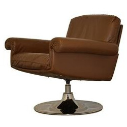 "Vintage De Sede ""DS 31"" lounge armchair in brown leather - 1970s"
