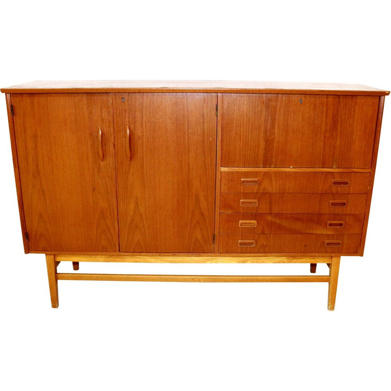 Vintage teak highboard, Sweden 1960
