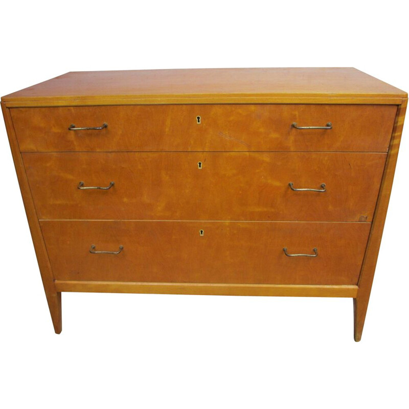Vintage birch Chest of Drawers 1960s