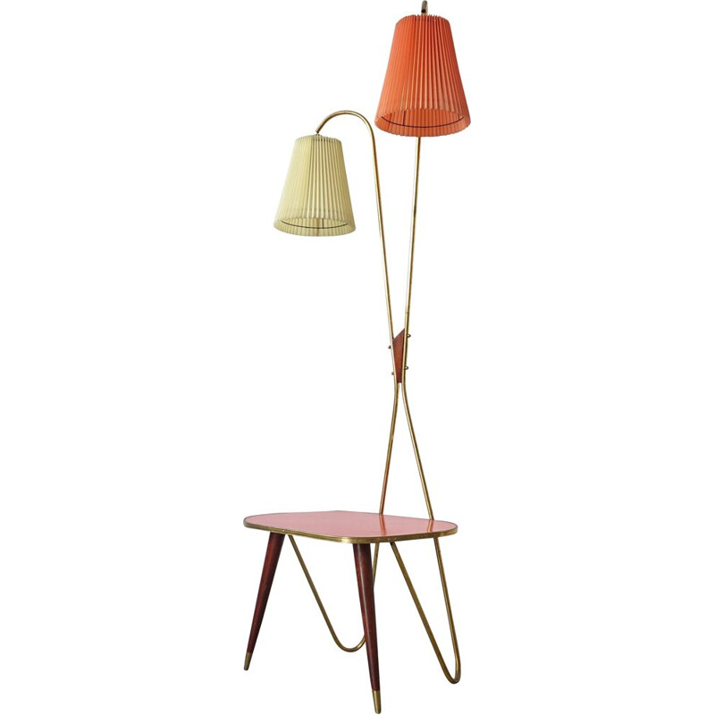 Vintage Table & Lamp 1950s