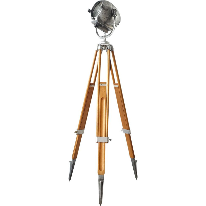 Vintage Electric Stranded Theatre Lamp with Tripod by Kern Aarau 1950s