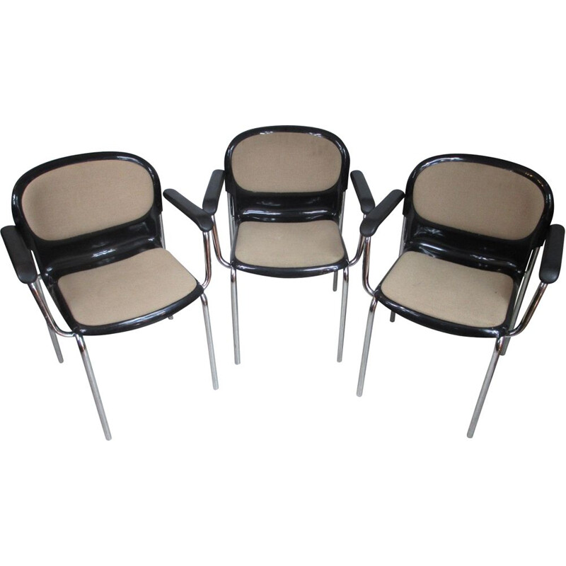 Set of 3 Chairs by G. Lange Germany 1980s