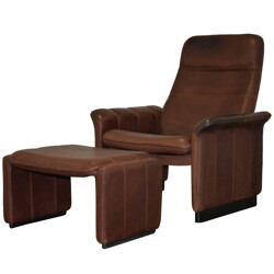 De Sede Ds 50 lounge armchair and ottoman - 1970s