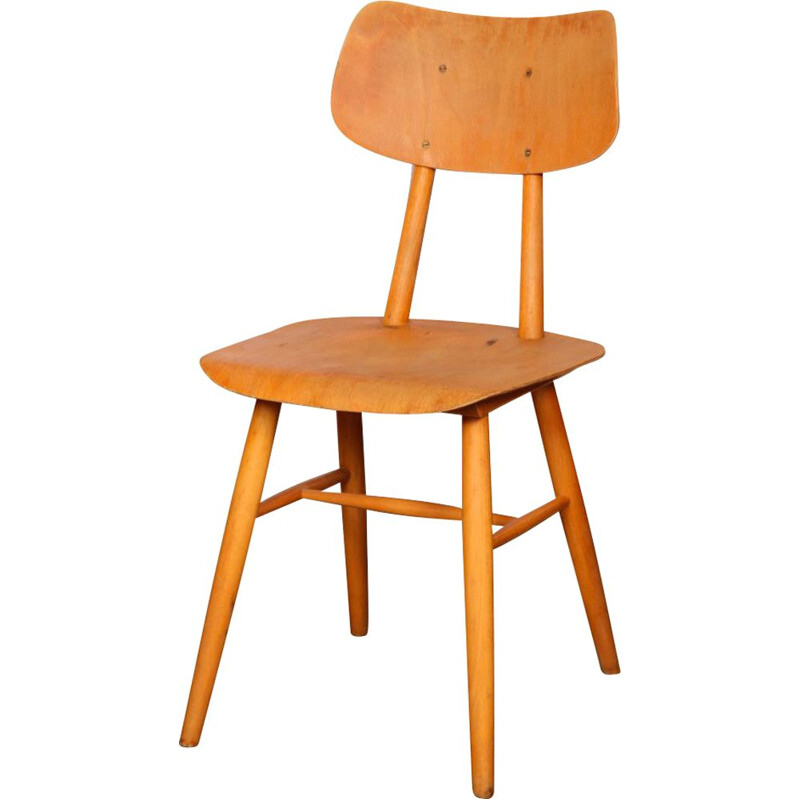 Vintage wooden chair by Ton 1960s