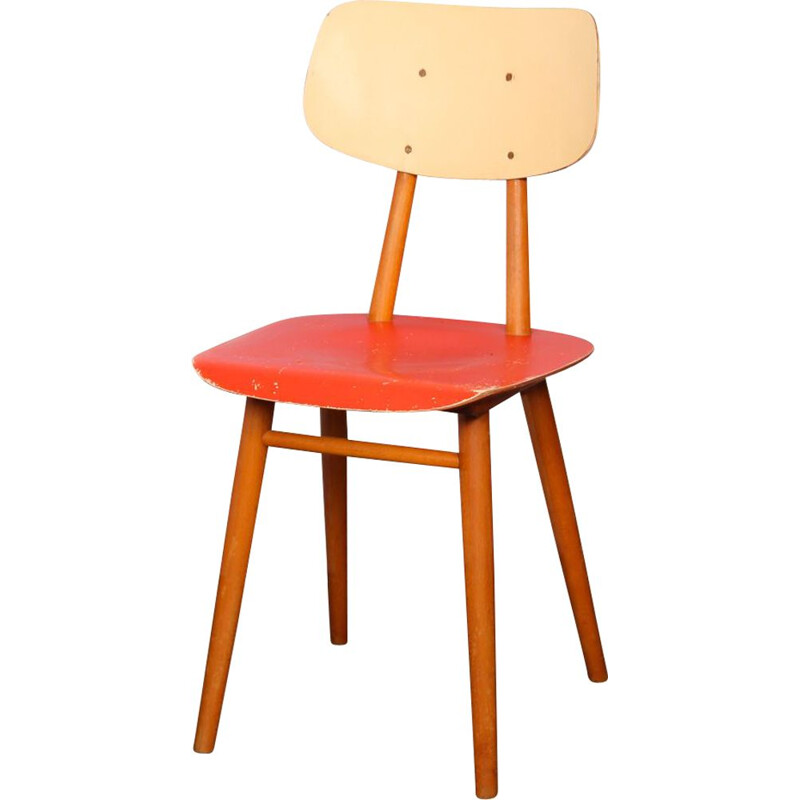 Vintage chair by Ton in 1960s