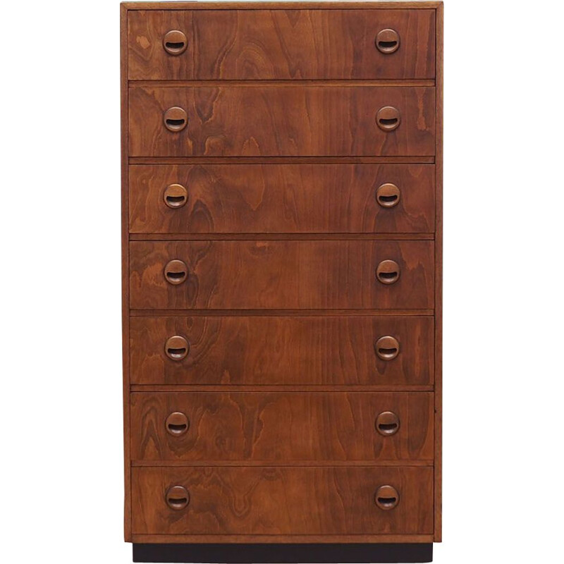 Vintage Alder chest of drawers Denmark 1970s