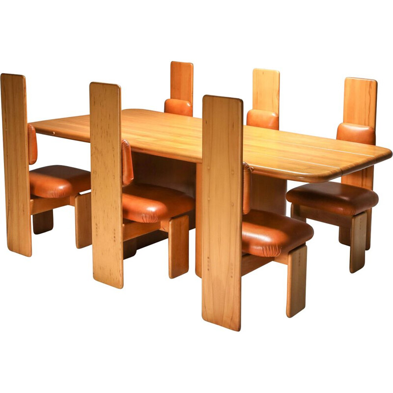 Vintage dining room set by Mario Marenco Italy 1970s