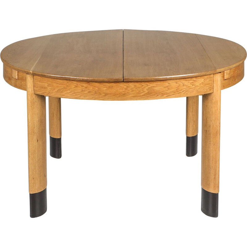 Vintage Rationalist Oval Dining Table in Oak Dutch1920s