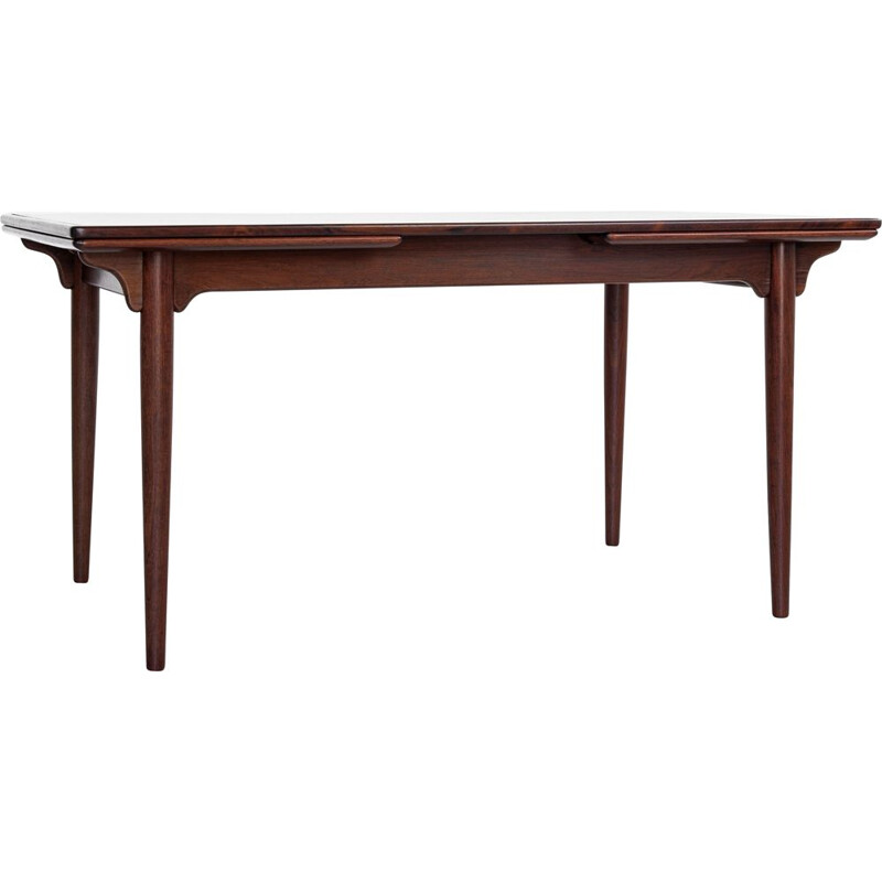 Midcentury dining table in rosewood by Omann Jun Danish 1960s