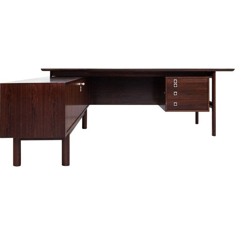 Midcentury Executive Desk in rosewood by Arne Vodder for Sibast Danish 1960s