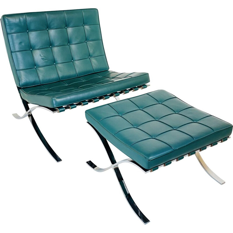 Vintage Barcelona Chair by Ludwig Mies van der Rohe for Knoll Germany 1929s