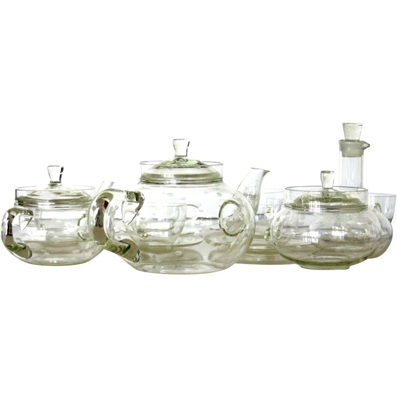Mid-century tea set in glass, Ladislav SUTNAR - 1940s