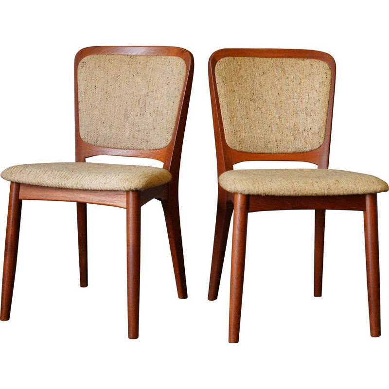 Pair of Mid Century Dining Chairs by Koefoeds Hornslet Danish 1960s