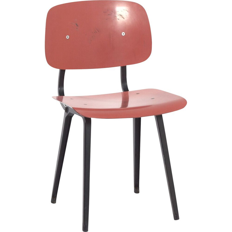 Vintage Red Revolt Chair by Friso Kramer for Ahrend the Circle, 1950s