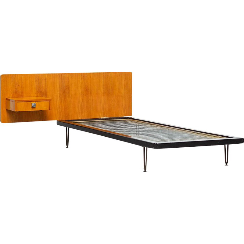Vintage bed modernist bed by Alfred Hendrickx 1950