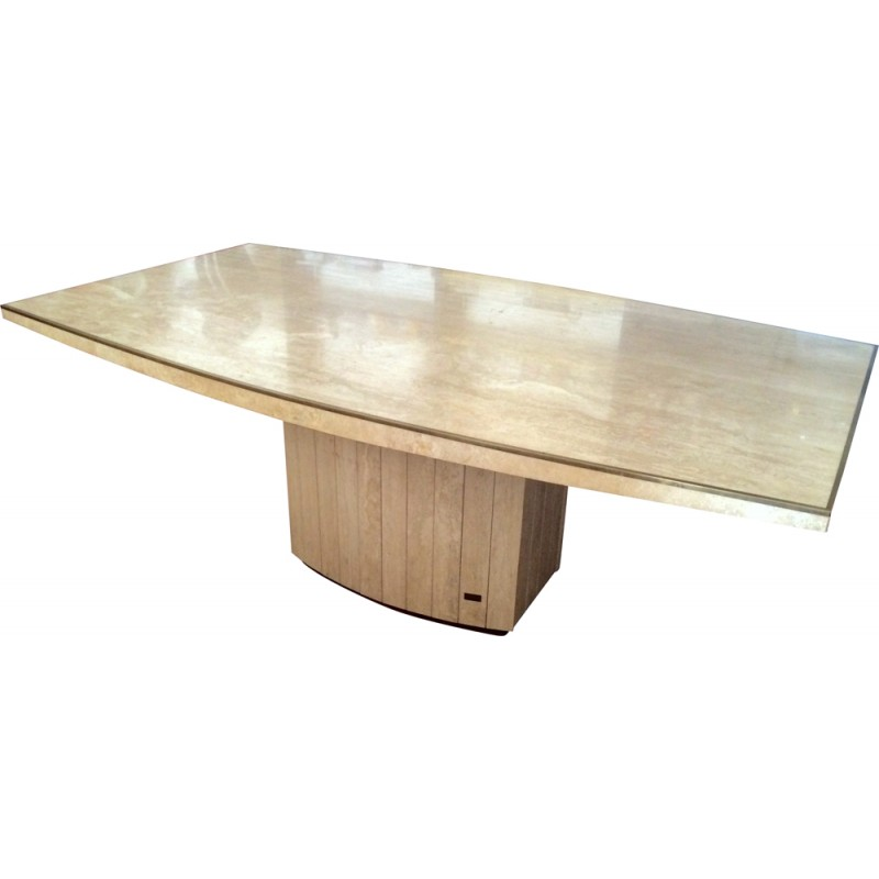 Maison Jean Charles dining table in travertine - 1968