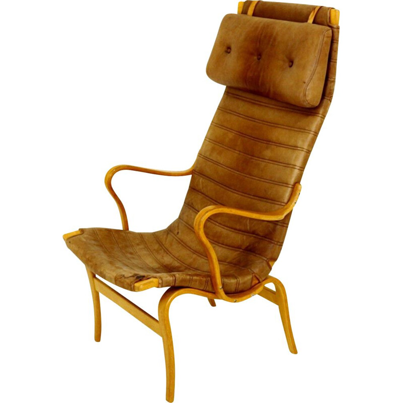 Vintage armchair 'eva' by Bruno Mathsson for Karl Mathsson 1960