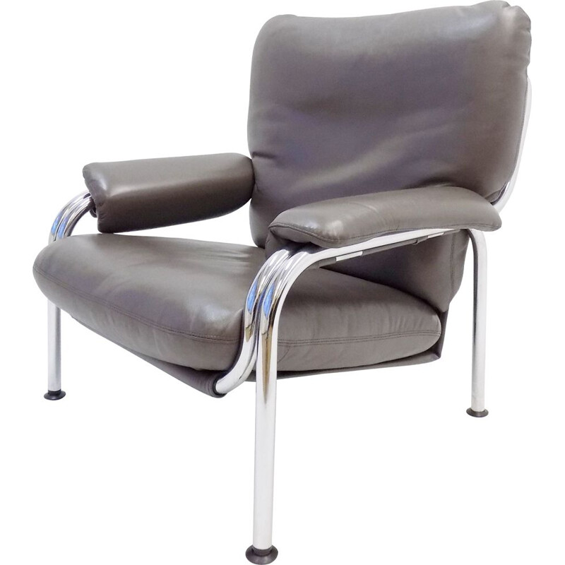 Vintage De Sede Kangaroo leather armchair by Hans Eichenberger 1960s