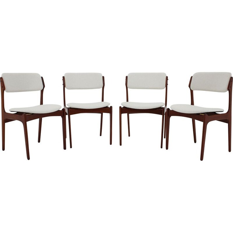 Set of 4 vintage Teak Dining Chairs Denmark 1960s