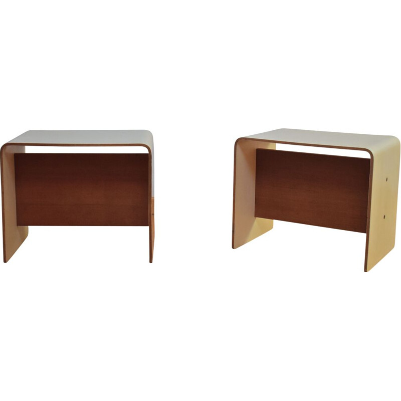 Pair of vintage stools by Pierre Guariche for Negroni 1968s