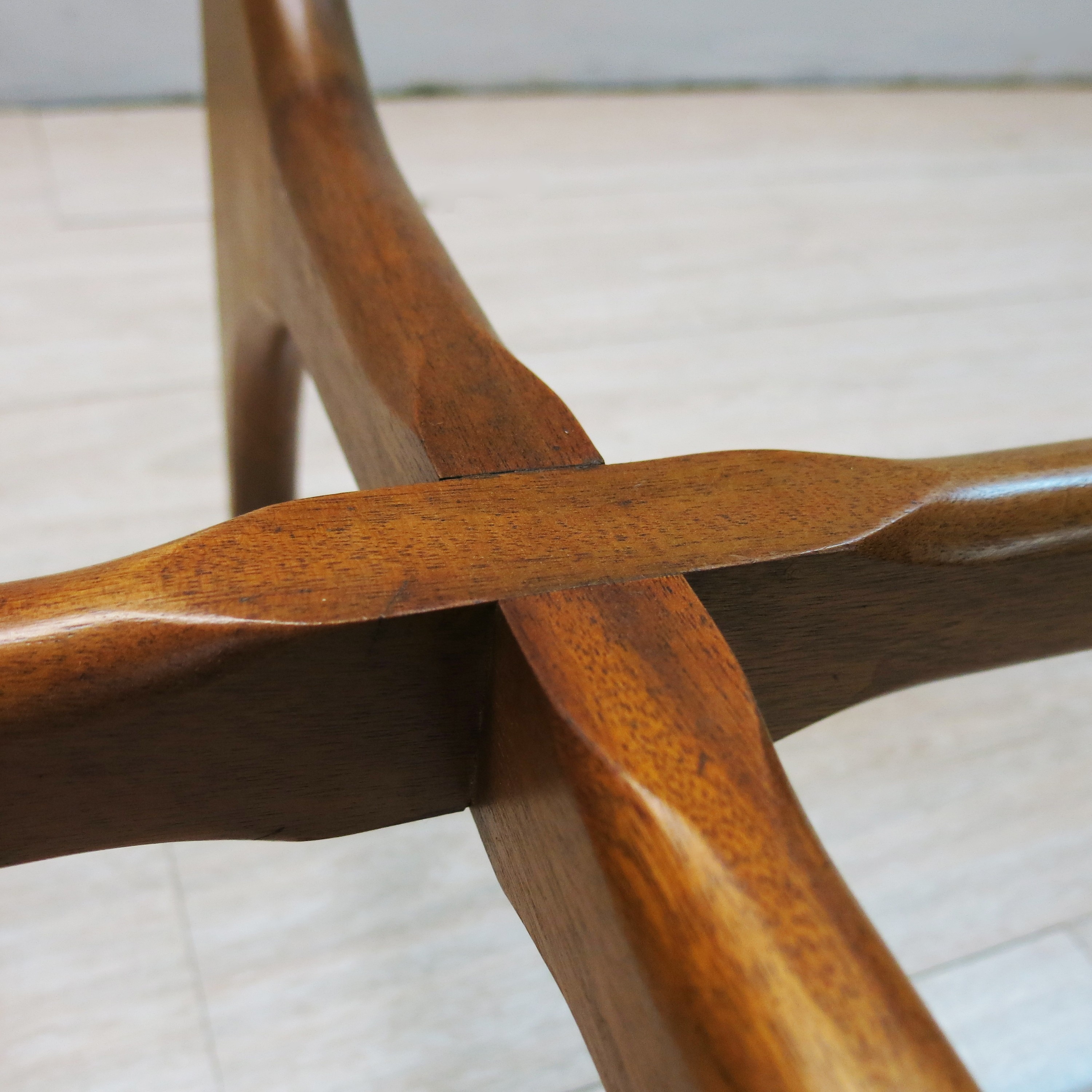 Teak Oval Coffee Table: English Stonehill Oval Coffee Table In Teak Wood And Glass
