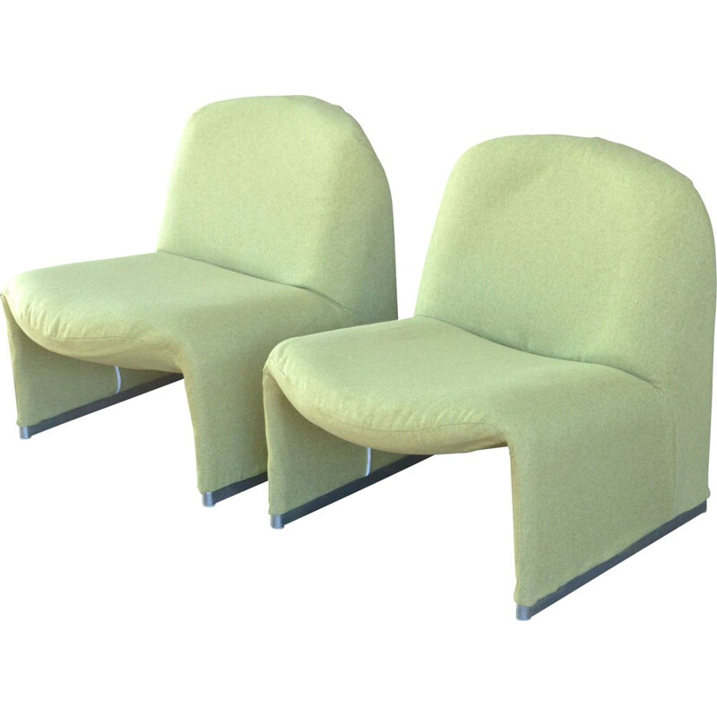 Pair of vintage 'Alky' armchairs by Giancarlo Piretti 1960