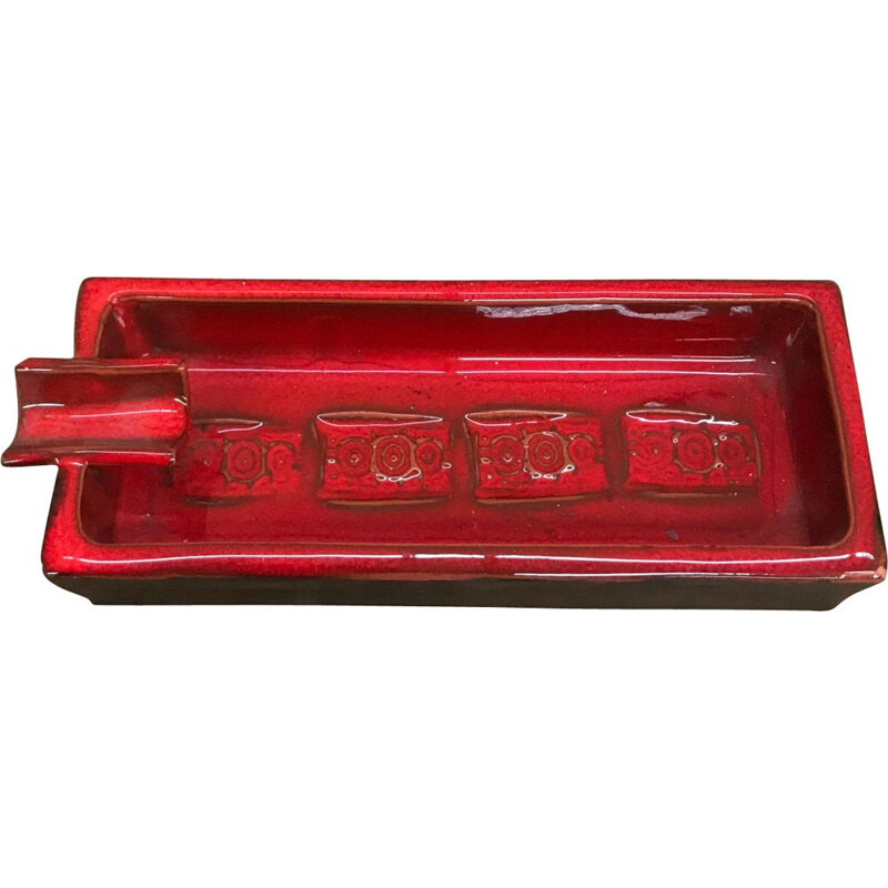 Vintage red Ashtray