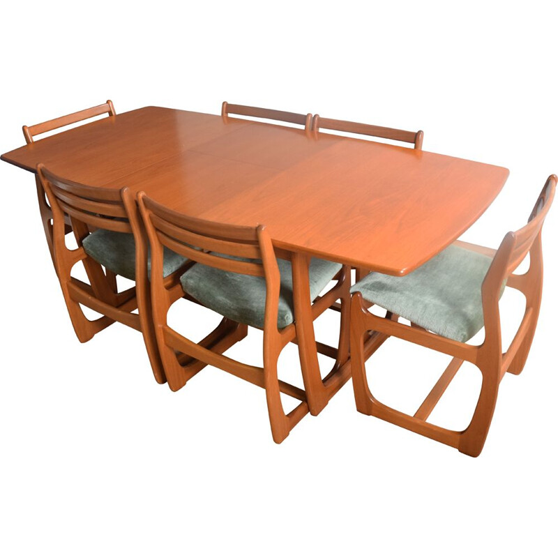 Vintage Portwood teak table and 6 Chairs Danish 1960s