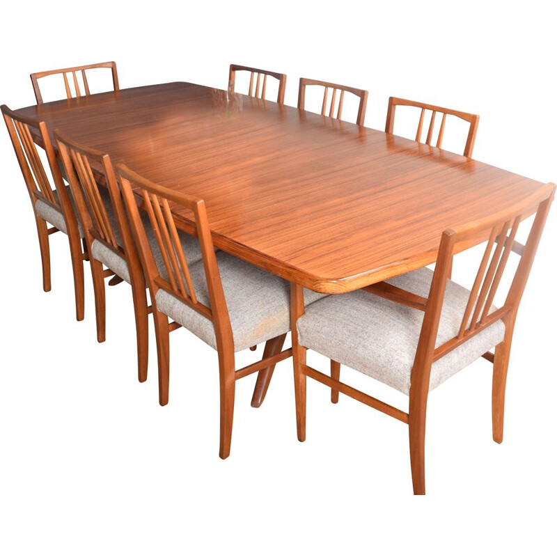 Vintage Gordon Russell Heals Extending Table & 8 Chairs