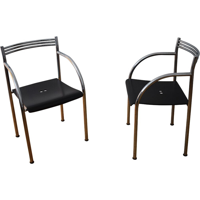 Pair of vintage chairs Fancesca Spanish II by Philippe Starck for Baleri 1984s