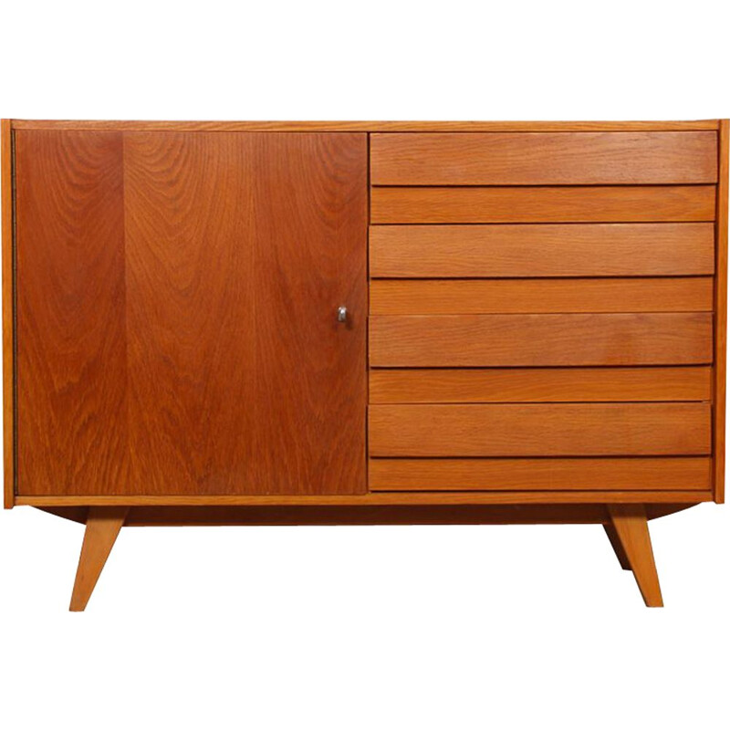 Vintage 4-drawer highboard by Jiri Jiroutek 1960
