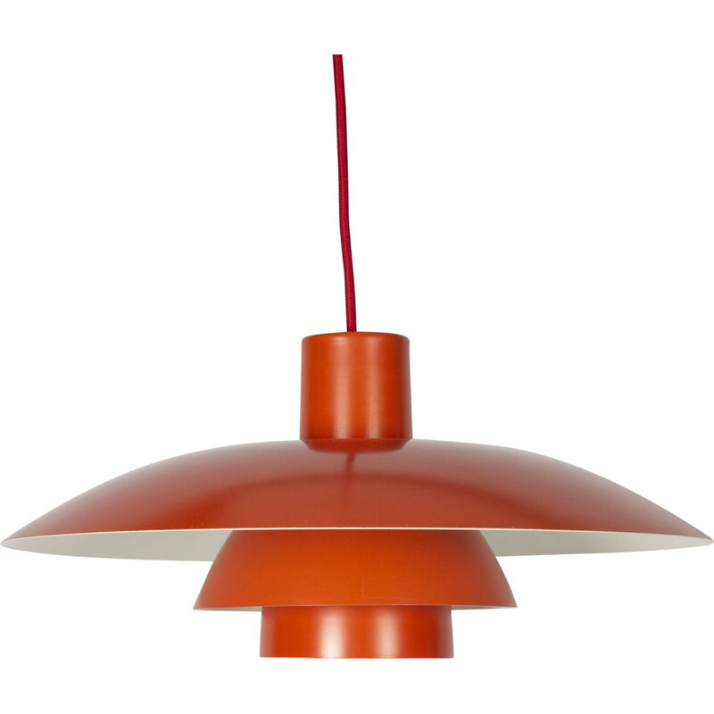 Vintage Red Poul Henningsen for Louis Poulsen Pendant Lamp