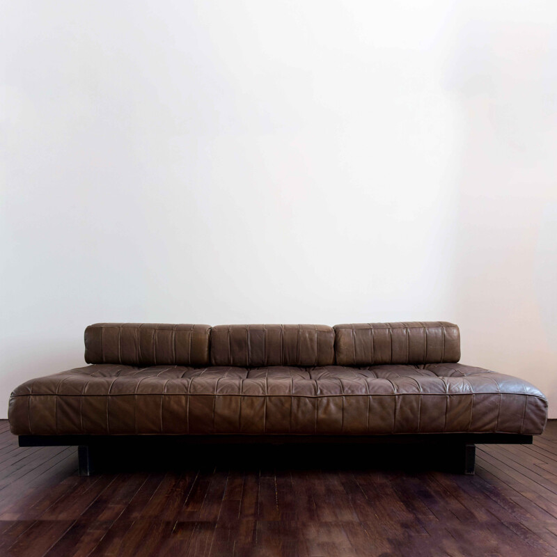 Vintage sofa bed DS-80 by De Sede 1970