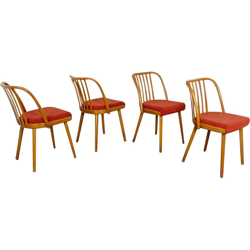 Set of 4 vintage Dining Chair by Antonin Suman 1960s
