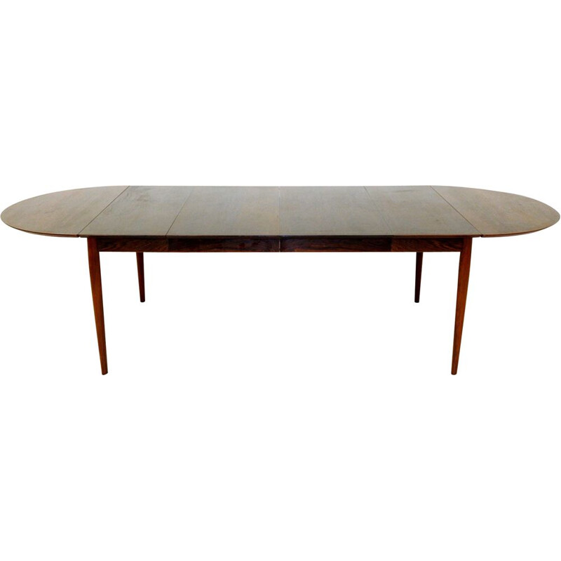 Vintage rosewood dining table by Arne Vodder