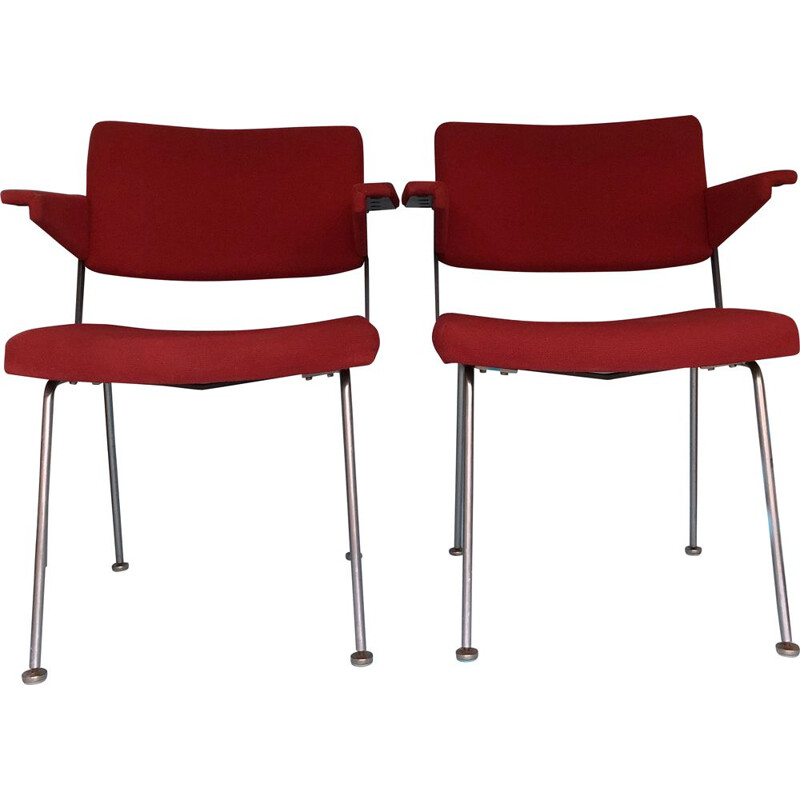 Pair of vintage chairs by André Cordemeyer for Gispen, Netherlands 1960