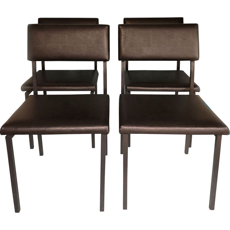 Set of 4 vintage chairs by Gijs van der Sluis, Netherlands 1990