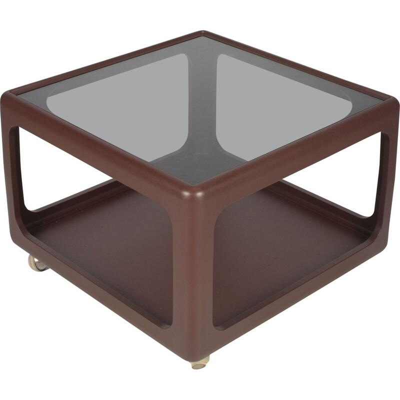 Vintage brown coffee table by Peter Ghyczy for the Horn collection