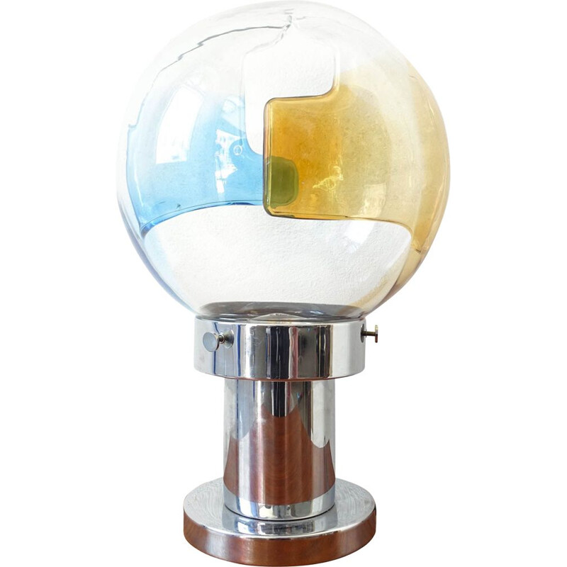 Vintage Space Age Table Lamp by Toni Zuccheri for Venini 1960s